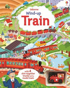 Wind-up train book with slot-together tracks [0]