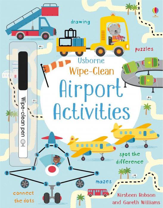 Wipe-clean airport activities [0]