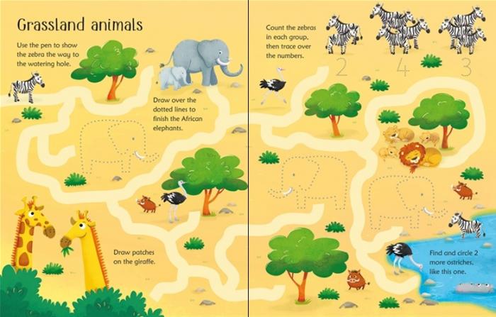 Wipe-clean animal activities [1]
