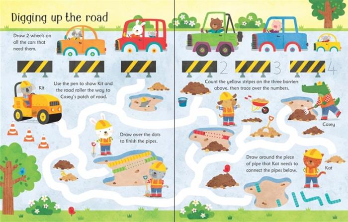 Wipe-clean building site activities [3]