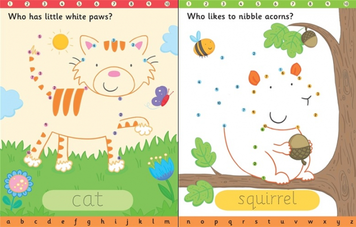 Wipe-clean dot-to-dot animals [1]