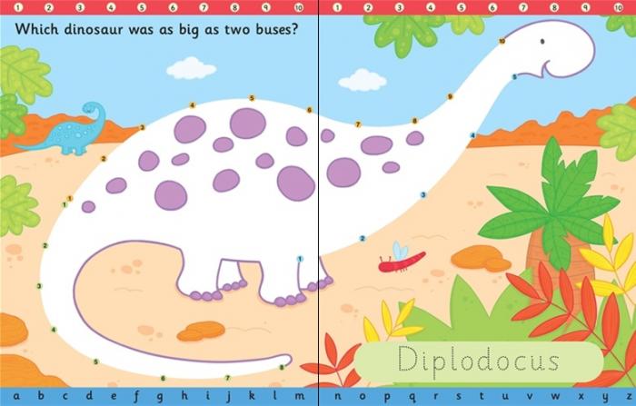 Wipe-clean dot-to-dot dinosaurs [1]
