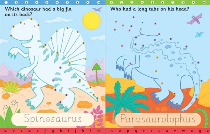 Wipe-clean dot-to-dot dinosaurs [2]