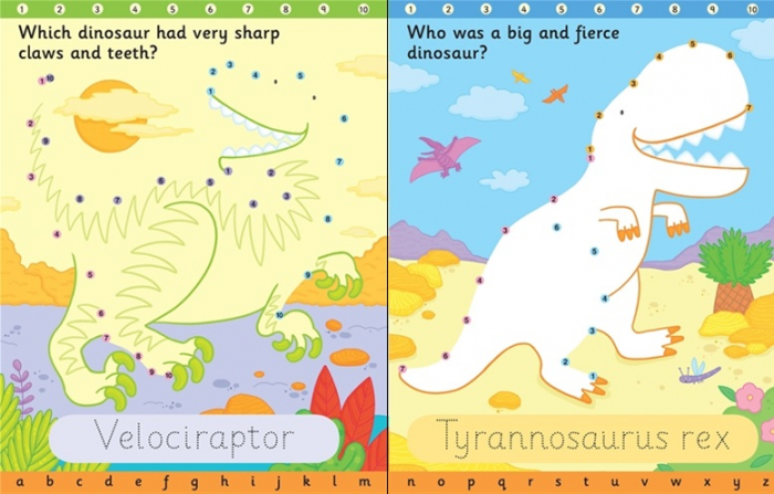 Wipe-clean dot-to-dot dinosaurs [3]