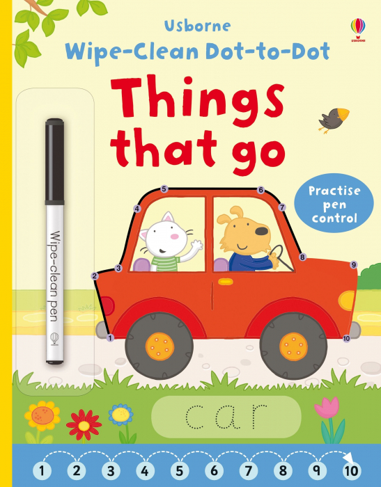 Wipe-clean dot-to-dot things that go [0]