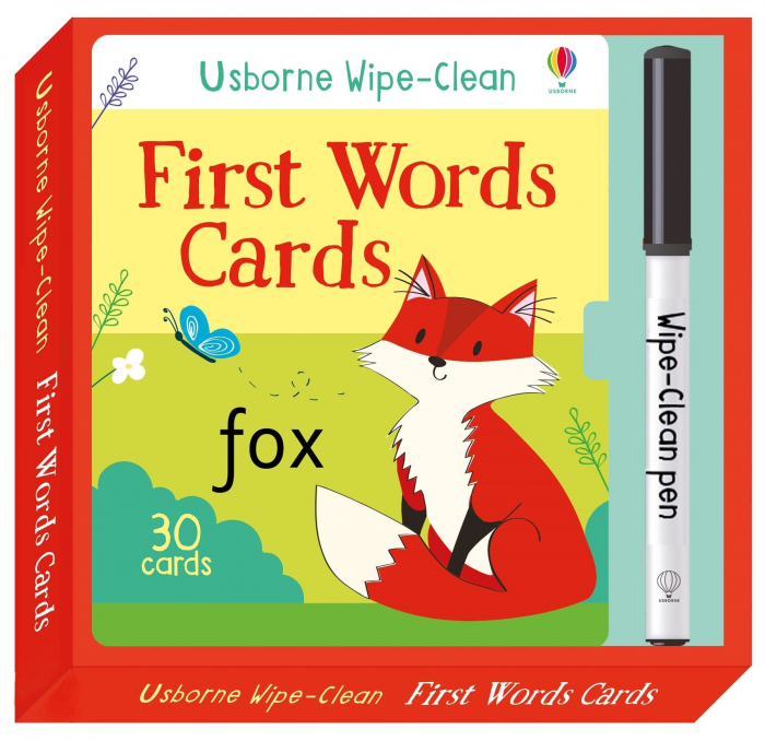 Wipe-clean first words cards [0]