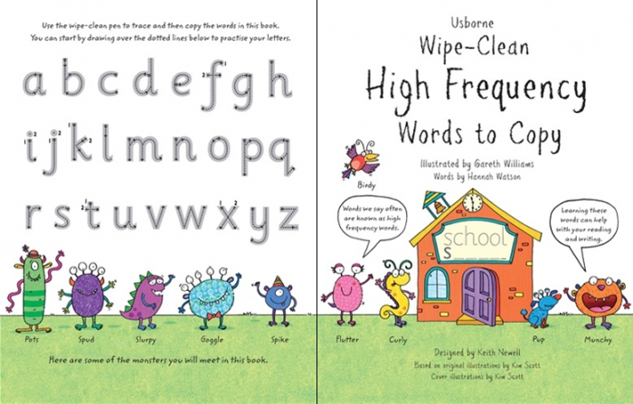 Wipe-clean high-frequency words to copy [3]