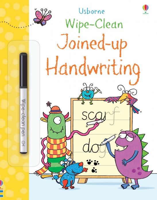 Wipe-clean joined-up handwriting [0]
