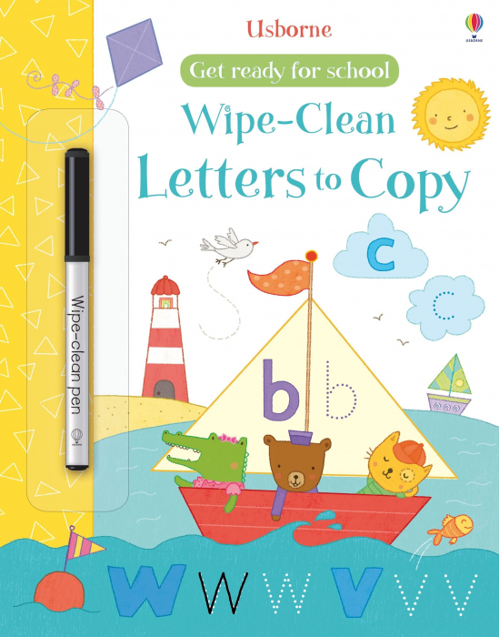 Wipe-clean letters to copy [0]
