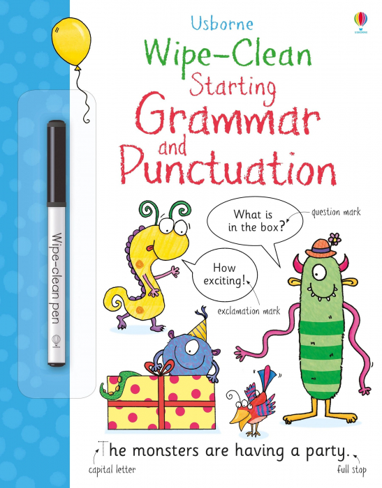 Wipe-clean starting grammar and punctuation [0]