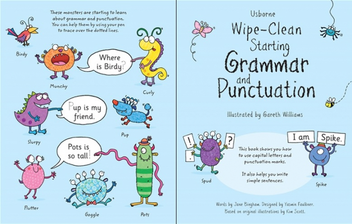 Wipe-clean starting grammar and punctuation [3]