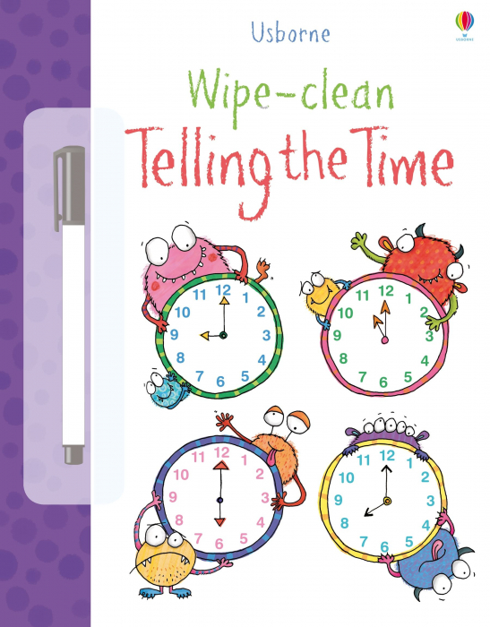 Wipe-clean telling the time [0]