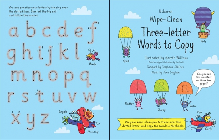 Wipe-Clean Three-Letter Words to Copy [3]