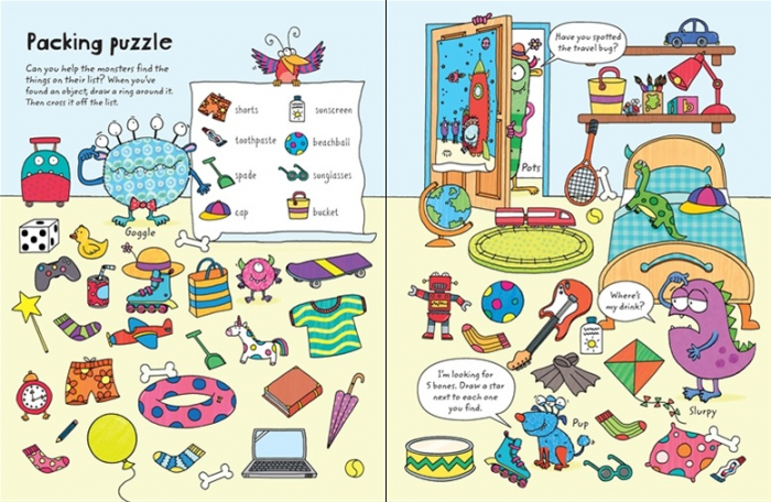 Wipe-clean travel puzzles [3]