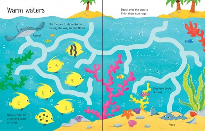 Wipe-clean under the sea activities [1]