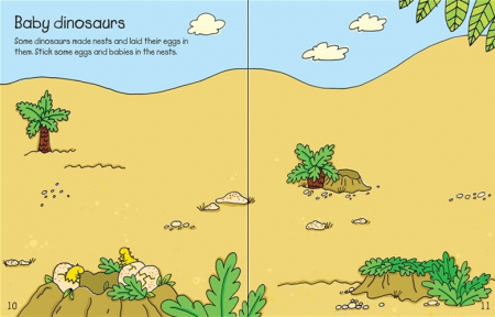 Dinosaurs sticker and colouring book [1]