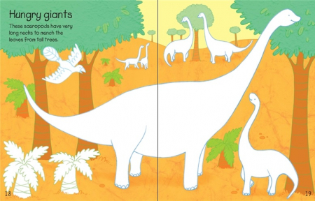 Dinosaurs sticker and colouring book [2]