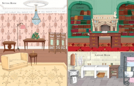 Doll's house sticker book: Country house [1]