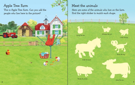 Farmyard Tales animals sticker book [1]