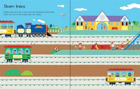 First sticker book Trains [2]