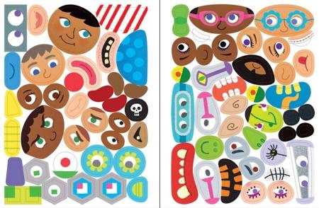 Funny faces sticker book [3]