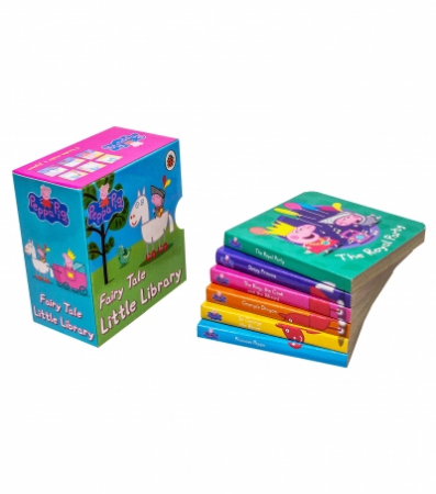 Peppa Pig: Fairy Tale Little Library 6 Books Children Collection Puzzle Gift Set  [1]