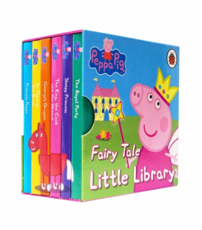 Peppa Pig: Fairy Tale Little Library 6 Books Children Collection Puzzle Gift Set  [0]