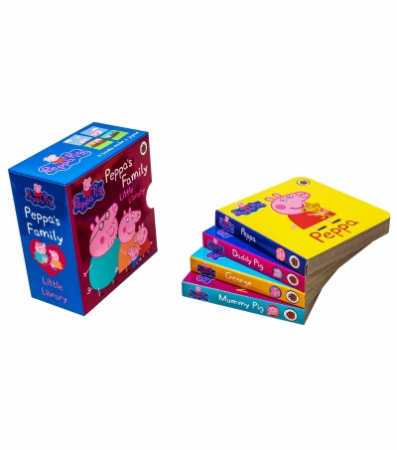 Peppa Pig Peppa's Family Little Library Collection 4 Books Set [1]