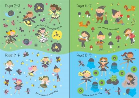 Little sparkly fairies sticker book [3]