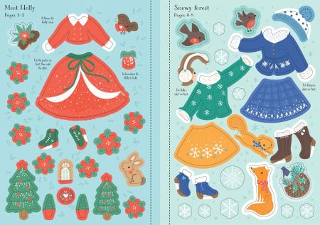 Little sticker dolly dressing Christmas [3]