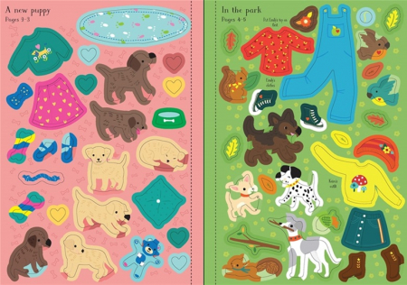 Little sticker dolly dressing Puppies [3]