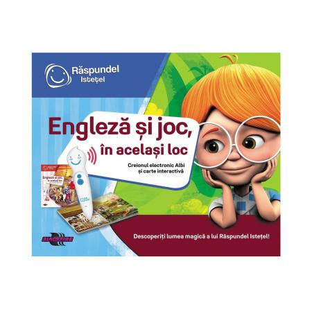 Pachet Engleza si joc, in acelasi locInclude carte si creion [0]
