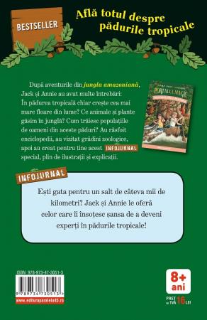 """Pădurile tropicale. Infojurnal (însoțește volumul 6 din seria Portalul magic: """"Aventuri în jungla Amazonului"""") [1]"""