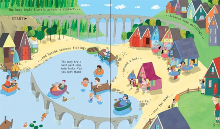 Pull-back busy train book [1]