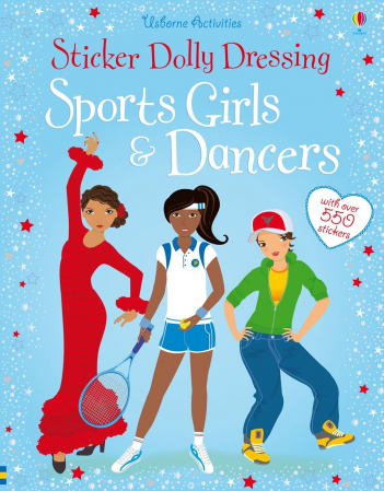 Sticker dolly dressing Sports girls and dancers [0]