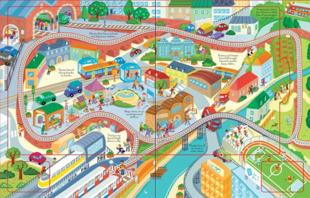 Wind-up train book with slot-together tracks [3]