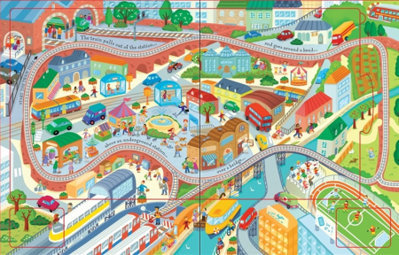 Wind-up train book with slot-together tracks [2]