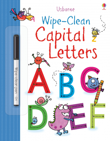 Wipe-clean capital letters [0]