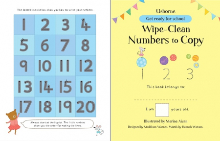 Wipe-clean numbers to copy [3]
