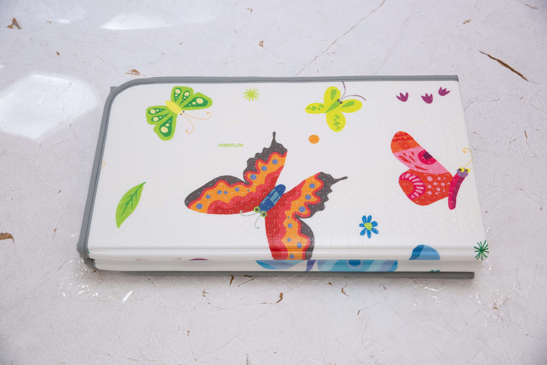 Saltea Sobble Butterfly World, pliabila, 1.4m, 100% sigura, eco-friendly, Multicolor 8