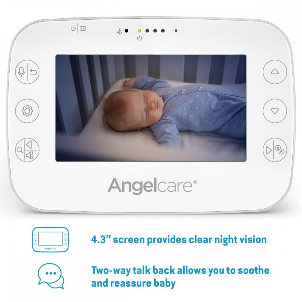 Videofon si Monitor de miscare cu placa de detectie wireless Angelcare AC327 2