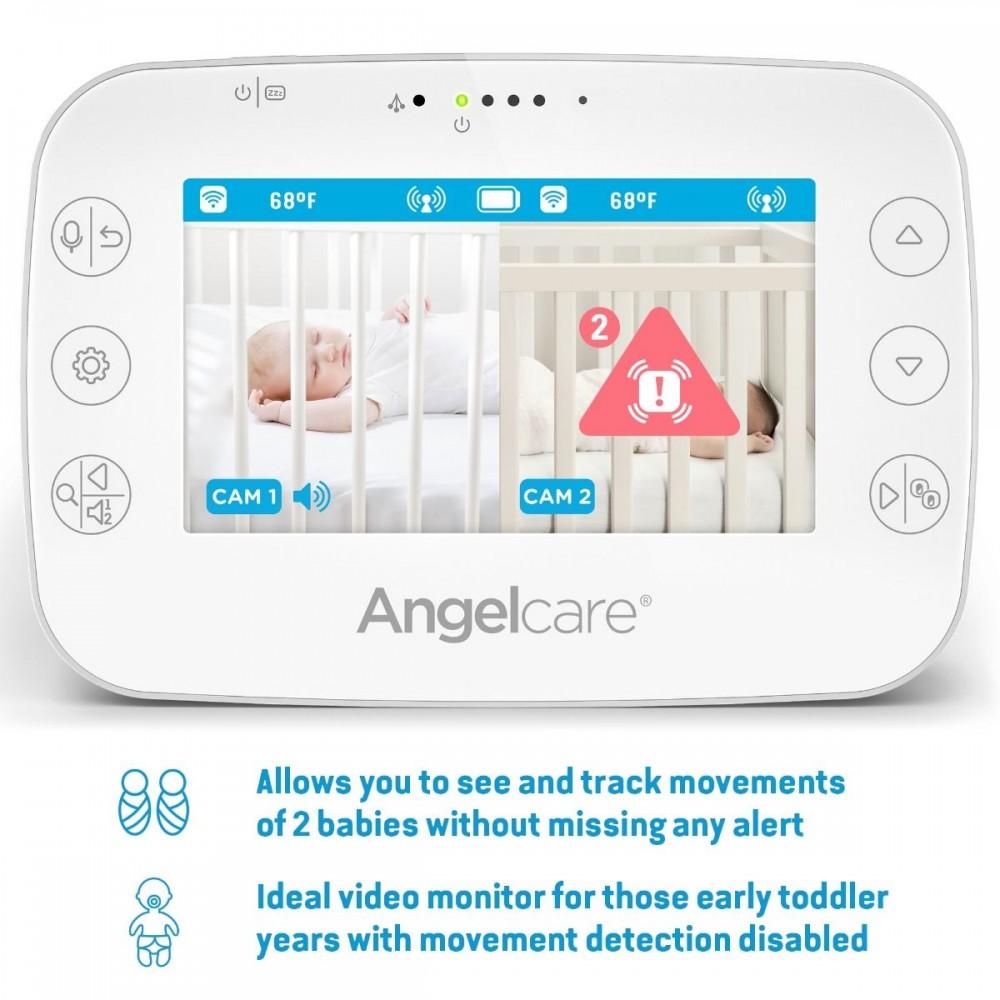 Videofon si Monitor de miscare cu placa de detectie wireless Angelcare AC327 4