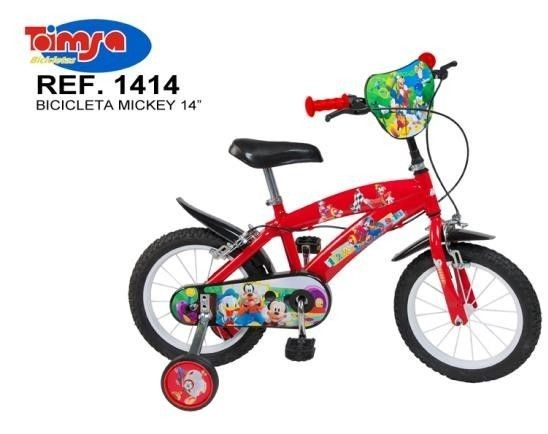 "Bicicleta 14"" Mickey Mouse Club House, baieti - Toimsa 0"