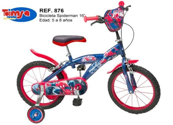 Bicicleta 16'' Spiderman - Toimsa 0