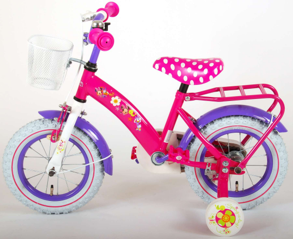 Bicicleta E&L Minnie Mouse 12 inch cu portbagaj [8]