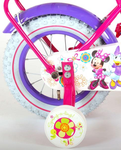 Bicicleta E&L Minnie Mouse 12 inch cu portbagaj [4]