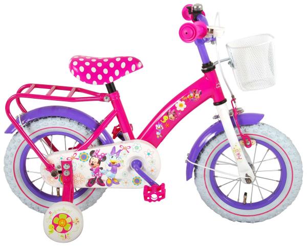 Bicicleta E&L Minnie Mouse 12 inch cu portbagaj [2]