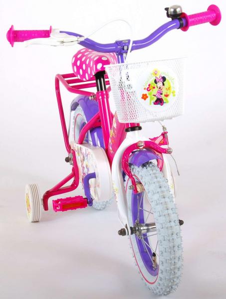 Bicicleta E&L Minnie Mouse 12 inch cu portbagaj [7]
