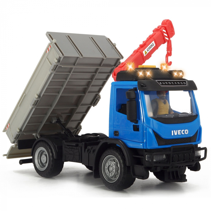 Camion Dickie Toys Playlife Iveco Recycling Container Set cu figurina si accesorii [5]