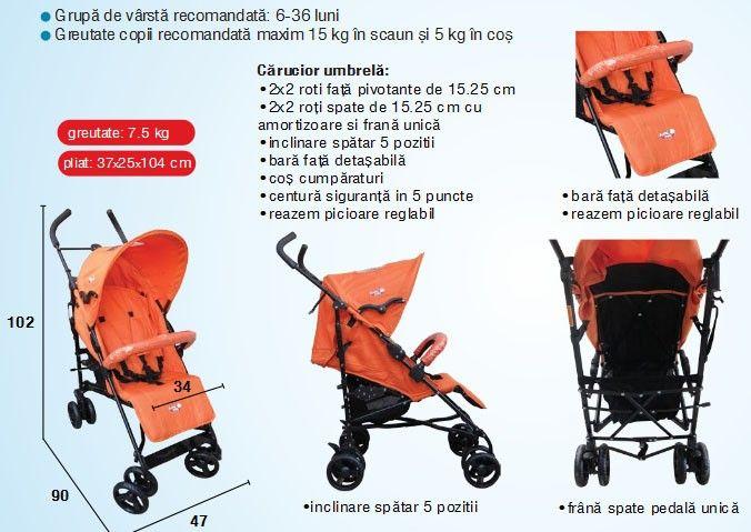 Carucior copii sport umbrela C-106 Primii Pasi 1